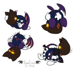 alpha_channel anus biting_lip blue_skin blush brown_fur cat_ears_(disambiguation) clothing duo erection fangs fingering floating_hands fur gloves glowing glowing_eyes kirby_(series) magolor maid_uniform male male/male membranous_wings meta_knight nintendo open_mouth penetration penis pussy pussy_juice scar sex squint uniform vaginal_penetration vaginal_penetration vibrantechoes video_games waddling_head white_eyes wings yellow_eyes