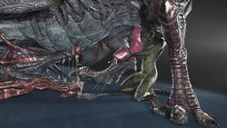 2017 3d_(artwork) absurd_res animal_genitalia anthro anthro_on_feral argonian claws cum cum_in_mouth cum_inside digital_media_(artwork) dragon duo erection feral handjob hi_res horn male male/male masturbation mathfetish nude odahviing open_mouth oral orgasm penis reptile scales scalie sex simple_background size_difference skyrim source_filmmaker the_elder_scrolls toe_claws tongue video_games wyvern zoophilia