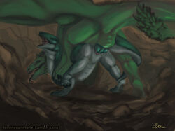 dragon duo female feral feral_on_feral green_penis knot male male/female penetration penis pussy scales sex soliana vaginal_penetration vaginal_penetration