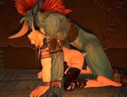 3d anal blood_elf duo erection gay male muscles penis size_difference thesilvershot troll warcraft