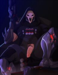 flaccid male male_only overwatch partially_clothed reaper seductive solo solo_male