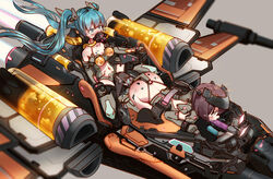 2girls all_fours aqua_hair ass blue_eyes brown_hair crying crying_with_eyes_open dildo gagged hatsune_miku heart heart-shaped_pupils kvpk5428 motion_blur multiple_girls navel needle oral restrained sex_machine space_craft star_wars stationary_restraints stomach symbol-shaped_pupils tears twintails vocaloid x-wing