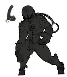 black_skin booou erect faceless monster muscles penis sex_toy teratophilia vektor