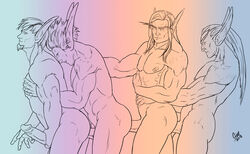 4boys anal ass elf erection group_sex male_focus masturbation multiple_boys muscle nude orgy penis pointy_ears sex tagme world_of_warcraft yaoi