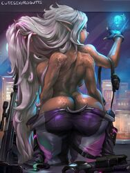 4_arms ass big_ass breasts cleavage cutesexyrobutts dark-skinned_female dark_skin dat_ass female female_only huge_ass multiple_arms muscles muscular muscular_female solo