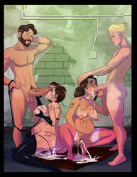 age_difference annie_hughes balls breasts crossover cum cum_in_ass cum_in_mouth cum_in_pussy cum_out_nose dash_parr helen_parr hogarth_hughes incest iron_giant lipstick nipples oral penis pregnant pussy sex size_difference tagme testicles the_incredibles thedirtymonkey thighhighs