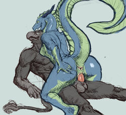 2017 5_fingers absurd_res anthro anthro_on_anthro anus aquatic_dragon avian balls beak breasts digital_media_(artwork) dragon erection eye_contact female gryphon hi_res horn huge_tail killioma long_neck looking_pleasured lying male male/female male_penetrating muscular nude on_back penetration penis pussy raised_tail reverse_missionary_position sex simple_background straddling tail_tuft thick_tail tuft vaginal_penetration vaginal_penetration