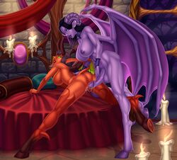 areolae ass big_breasts breasts daemonette demon dickgirl erection female futa_on_female futanari horns large_breasts maplemoon nipples nude penetration penis pussy sex succubus vaginal_penetration warhammer_40k wings world_of_warcraft