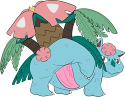 2015 3_toes alpha_channel animal_genitalia ass claws digital_drawing_(artwork) digital_media_(artwork) erection feral flora_fauna flower full-length_portrait genital_slit green_scales half-closed_eyes heyitshappydoodles leaf looking_at_viewer looking_back male mega_evolution mega_venusaur nintendo nude penis pink_penis plant pokémon_(species) pokemon portrait presenting presenting_hindquarters presenting_penis quadruped raised_leg rear_view red_eyes scales scalie simple_background slit solo tapering_penis thick_penis toe_claws toes toony transparent_background tree vein veiny_penis video_games vines white_claws