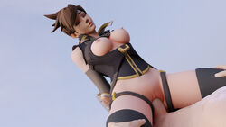 3d absurdres areolae arhoangel blender breasts cowgirl_position erection female highres male nipples overwatch penetration penis pussy sex straight tracer vaginal_penetration