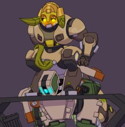 2017 ambiguous_gender bastion_(overwatch) cum duo horn lemonwiire machine omnic orisa overwatch ranged_weapon robot sex simple_background weapon