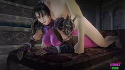 3d animated big_breasts breasts cleavage female from_behind large_breasts lesdias male no_sound sex soul_calibur source_filmmaker straight taki webm