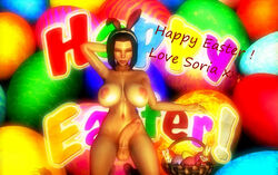 1girl 3d background balls big_boobs big_breasts big_tits breasts bunny_ears chocolate cock cybercole360 dick dickgirl dickgirl/female easter easter_basket easter_eggs erect erect_penis erection eyebrows eyelashes eyes eyes_closed feet female female_only futa_only futanari headband huge_cock human human_only kneeling large_breasts legs lips lipstick naked nipples nude nude_female penis posing purple_hair render shemale short_hair solo solo_female soria text tits xnalara xps