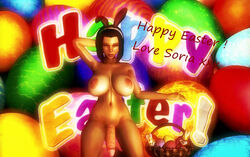 1girl 3d background balls big_breasts breasts bunny_ears chocolate closed_eyes cock cybercole360 dick dickgirl dickgirl/female easter easter_basket easter_eggs feet female female_only futa_only futanari headband huge_cock human human_only kneeling knees large_breasts legs naked nipples nude nude_female penis posing purple_hair render shemale shemale_only short_hair solo solo_female soria text tits xnalara xps