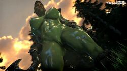 3d abs absurdres animated areola armlet ass big_breasts bouncing_breasts breasts cloud face_paint fat_mons female from_below grass green_skin highres large_breasts muscle_tone muscles muscular muscular_female muscular_legs muscular_thighs nipples nude orc orc_female outdoors penis perky_breasts pointy_ears pussy shadbo shiny_skin skyrim solo sound source_filmmaker standing the_elder_scrolls the_firebrand thick_thighs thighs tree underboob vambraces webm
