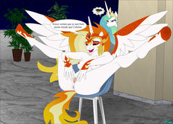 anthro ass breasts daybreaker_(mlp) fab3716 female friendship_is_magic my_little_pony princess_celestia_(mlp) pussy spread_pussy spreading