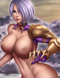 areolae big_breasts breasts female female_only flowerxl isabella_valentine large_breasts looking_at_viewer nipples solo soul_calibur