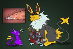 2boys ? alternate_color ambiguous_gender anal_sex bandana being_watched black_eyes black_fur black_sclera blue_fur box canine canine_penis cum cum_in_ass cum_inside digital_media_(artwork) dizzymilky eeveelution espeon fangs feline female feral furry gay green_background grey_eyes group half-closed_eyes hybrid interspecies jolteon knot large_ass large_penis legendary_pokémon lion looking_down luxray male mew nintendo nude open_mouth original_character pawpads paws penis pokémon_(species) pokemon pokemon_dppt pokemon_gsc pokemon_rgby purple_eyes purple_fur purple_sclera red_sclera rope sex shadow shiny_pokemon sitting size_difference sketch small_penis smile spread_legs tail teeth thick_thighs umbreon veins veiny_penis video_games white_fur wide_hips x-ray yaoi yellow_fur