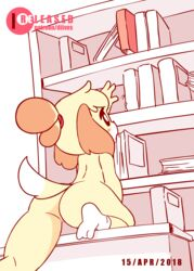 animal_crossing animated anus ass diives female female_only furry isabelle_(animal_crossing) nude pussy