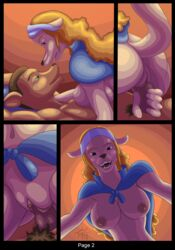 absurd_res anthro bed blonde_hair breasts canine cape clothing female furry furry_only go1den_(wanda_fan_one_piece) hair hi_res hoodie male mammal navel nipples no_humans penetration penis pussy sacrificabominat sex undressing wanda_(one_piece)