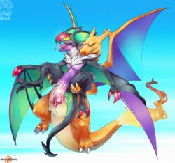 1boy 1girl 2017 2_toes 3_fingers 3_toes animal_genitalia animal_penis ass ass_grab bat big_feet big_penis big_tail black_body black_skin blue_background blue_skin blush charizard chest_tuft claws closed_eyes cloud countershading cum cum_in_pussy cum_inside cum_on_penis digital_media_(artwork) dragon duo ejaculation erection fangs feet female feral fire flaming_tail flying flying_sex from_behind_position fur hand_on_ass holding horn huge_cock huge_penis interspecies jewelry knot larger_male leg_grab lutherus male male_penetrating mammal membranous_wings miss-yazriel nintendo no_nipples noivern nude open_mouth orange_scales orange_skin orgasm original_character outdoors outside patreon penetration penis penis_shaped_bulge pokémon_(species) pokemon pokemon_rgby pokemon_xy purple_body purple_skin pussy ring scales scalie sex sharp_teeth size_difference sky smile sofia_(ptair) soles spread_legs spreading stand_and_carry_position standing stomach_bulge straight tail tapering_penis teeth text thick_tail thick_thighs tight_fit toe_claws toes tongue tongue_out tuft vaginal_penetration video_games watermark white_fur wide_hips winged_arms wings yellow_skin