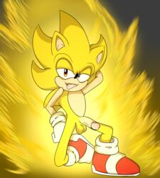 balls cel_shading hedgehog male male/male mammal nude penis pinnup remiraccoon sonic_(series) sonic_the_hedgehog super_sonic
