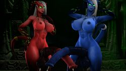 3d abs absurdres animal_genitalia areolae balls breasts dickgirl draenei erection futa_only futanari highres horsecock hyper hyper_penis looking_at_viewer nipples nude penis source_filmmaker sweetgrapes0101 testicles world_of_warcraft