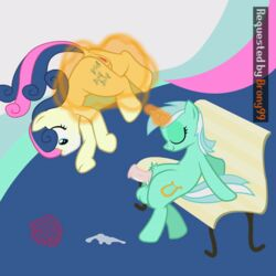 animated bench bonbon_(mlp) cum cum_in_mouth cum_inside dickgirl facefuck fellatio friendship_is_magic futa_on_female lyra_heartstrings_(mlp) my_little_pony oral penis sweetie_drops