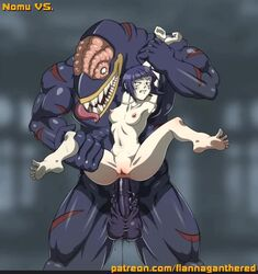 1boy 1girl anal anal_insertion animated anus arm_grab ass barefoot big_balls big_penis black_skin bouncing_breasts breasts bulge deep_penetration feet female flannaganthered huge_cock huge_penis huge_testicles interspecies kyoka_jiro monster monster_cock muscles muscular_male my_hero_academia nipples nomu nude penis purple_hair pussy size_difference small_breasts smaller_female spread spread_legs stomach_bulge testicles text thick_penis thick_thighs tongue tongue_out veins veiny_penis veiny_testicles webm wet