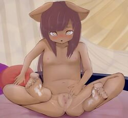 anus barefoot blush breasts clitoral_hood clitoris cum cum_on_feet cum_on_lower_body cum_on_toes feet female female_only furry navel nipples nude original pussy pyu_ta08 small_breasts soles solo spread_legs spread_pussy toe_scrunch toes uncensored urethra