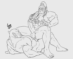 anal anal_sex anal_sex big_penis cowgirl_position gay grommash_hellscream kresto male male/male male_only muscles muscular orc world_of_warcraft