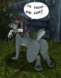 anthro anus ass bone canine death gore knight mammal paws pippuri undead video_games warcraft were werewolf wolf worgen world zombie