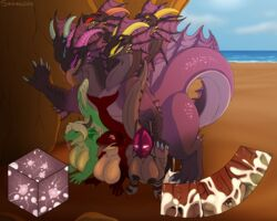 5_heads all_fours anthro anthro_on_feral beach big_breasts breasts cave cetacean clitoris clitoris_piercing dragon erection female female_on_feral feral foursome genital_piercing group group_sex hydra impregnation larger_male male male/female mammal marine multi_penis nipples orca penetration penis piercing pussy pussy_piercing seaside sex size_difference syrios tongue tongue_out vaginal_penetration vaginal_penetration whale zoophilia