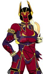 abs ben_10 ben_10:_omniverse breasts cosplay isabella_valentine looma_red_wind multiple_arms multiple_eyes po214 red_skin soul_calibur watermark