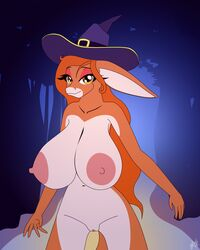 2017 big_breasts breasts cleavage clothed clothing donkey elae_meltaea equine female fibs forest halloween holidays huge_breasts looking_at_viewer mammal nude pepita_burracho solo tree vector