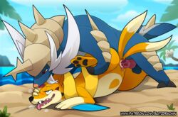 1boy 1girl ahe_gao alolan_exeggutor anal anal_sex anus anvil_position beach big_penis big_testicles blitzdrachin blue_fur brown_skin claws cum cum_while_penetrated cumshot day detailed_background doggy_style drooling duo ejaculation erection exeggutor eyelashes fangs female feral floatzel foot_grab furry half-closed_eyes hands-free interspecies kissing knot legs_up licking male mammal nintendo on_top open_mouth orange_fur orgasm otter outdoors outside palm_tree panting patreon paws penetration penis plant pokémon_(species) pokemon pokemon_bw pokemon_dppt pokemon_sm precum pussy pussy_juice red_eyes rolling_eyes saliva samurott sand sea seaside sex sheath size_difference sky straight teeth testicles text tongue tongue_out tree uncensored url veins veiny_knot veiny_penis video_games water watermark wet white_border white_fur