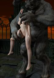 1boy 1girl 3d anal anal_penetration anal_sex animated avstral balls barefoot big_penis blender bouncing_breasts dead_or_alive demon duo extreme_penetration female monster no_sound nude stomach_bulge tamaki webm