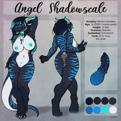 angel_shadowscale anthro big_breasts breasts cetacean draconic dragon equine glowing horse knot mammal marine model_sheet orca palette penis reptile scalie shine shiny solo standing tokaido whale wide_hips wyvern wyvern_hybrid