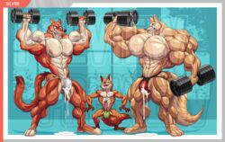 abs anthro biceps big_muscles blood bulge canine clothed clothing cum cum_drip cum_through_clothing cum_through_underwear disney dripping duke_weaselton erection exercise fennec finnick fox hyper hyper_muscles jockstrap male mammal muscular muscular_male mustelid nick_wilde nosebleed pecs penis size_difference the_fabulous_croissant topless underwear watermark weasel weightlifting workout yaoi zootopia