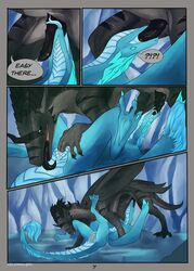 2017 auroth_the_winter_wyvern comic detailed_background dialogue dota dragon duo english_text erection fellatio female feral feral_on_feral finger_fuck fingering forked_tongue iggy male oral scalie sex spread_legs spreading straight text tongue vaginal_penetration velannal video_games wyvern