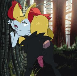 1boy 3_fingers against_tree ahe_gao anal anal_sex anatomically_correct animal_genitalia animal_penis animated anus ass bent_over big_ass big_ears big_penis big_tail black_fur bouncing_breasts bouncing_testicles braixen breasts canine canine_penis claws closed_eyes dickgirl disembodied_penis erection eyelashes fangs forest fox from_behind_position fucked_silly fur furry gay half-closed_eyes human inner_ear_fluff intersex interspecies knot long_penis looking_back looking_pleasured looking_up loop male mammal nintendo nude open_mouth orange_fur outdoors outside penetration penis pokémon_(species) poképhilia pokemon pokemon_xy raised_tail rear_view red_eyes rolling_eyes saliva scratch_marks sex shadman small_breasts spazkid tail teeth thick_penis thick_thighs tongue tongue_out tree veins veiny_penis video_games wet white_fur wide_hips yaoi yellow_fur