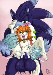 2018 ahe_gao anthro areola balls big_balls blue_fur blush breasts canine canine crossover cum cum_in_pussy cum_inside digital_media_(artwork) drooling duo excessive_cum female freedom_planet fucked_silly fur green_eyes hedgehog huge_balls hybrid hyper hyper_balls hyper_penis inflation inflation large_insertion large_penis larger_male looking_pleasured male mammal milla_basset navel nipples omegazuel penetration penis saliva simple_background size_difference small_breasts smaller_female sonic_(series) sonic_the_werehog stomach_bulge straight tears thick_penis tongue tongue_out video_games werehog werewolf white_fur wolf