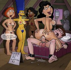 age_difference ahegao american_dad areola bobby_luv bondage bonnie_swanson cock_ring cowgirl_position crossover cum cum_in_pussy cum_inside donna_tubbs excessive_cum family_guy francine_smith fucked_silly lois_griffin malesub milf money multiple_females nipples orgasm overflow pleasure_face prostitution pubic_hair rape restrained reverse_rape roger_smith steve_smith the_cleveland_show the_simpsons