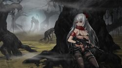 big_breast defeated game_cg pixel_art skirt tagme thorn_clothes white_hair
