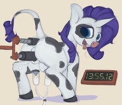 alternate_species anal bovine breast_milking cattle fan_character female friendship_is_magic horn lactation machine mammal marsminer my_little_pony open_mouth raricow_(mlp) rarity_(mlp) teats tongue tongue_out vaginal_penetration