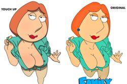 big_breasts family_guy lois_griffin looking_at_viewer tied_shirt