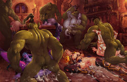 5boys 6girls blood_elf breasts cum cum_in_ass cum_in_pussy cum_inside cum_on_body cum_on_breasts cum_on_hair draenei elf facial female joixxx male night_elf nipples orc orgy pointy_ears pussy sex world_of_warcraft