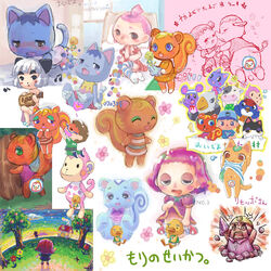 ai animal_crossing anthro caroline elephant filbert mammal margie rosie rule_63 sally_(animal_crossing) tagme tangy totakeke