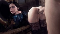 3d anal anal_sex anus ass erection female leeterr looking_at_viewer looking_back male penetration penis pussy sex source_filmmaker straight the_witcher yennefer