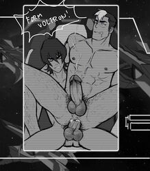 2boys ahe_gao anal bara body_hair cum cum_in_ass cum_while_penetrated cumdrip drooling ejaculation erection fucked_silly happy_sex male_focus multiple_boys naughty_face nude orgasm penis recording saliva sex smaller_dominant spacedaddy straddling tagme takashi_shirogane voltron voltron:_legendary_defender yaoi